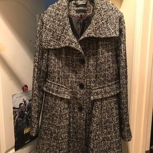 Express wool trench coat